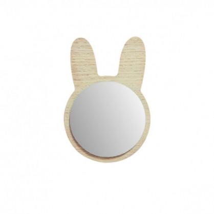 Miroir lapin en bois April Eleven