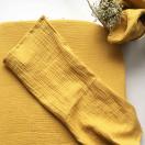 Housse de matelas à langer moutarde + 2 langes