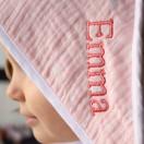 Cape de bain bébé ETOILES ROSE BLUSH