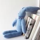 Doudou Lapin Bleu assis Modèle réduit