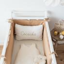 Tour de lit en gaze de coton CAMEL
