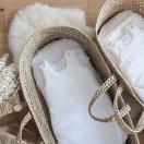 Drap housse coton ETOILES BLANC