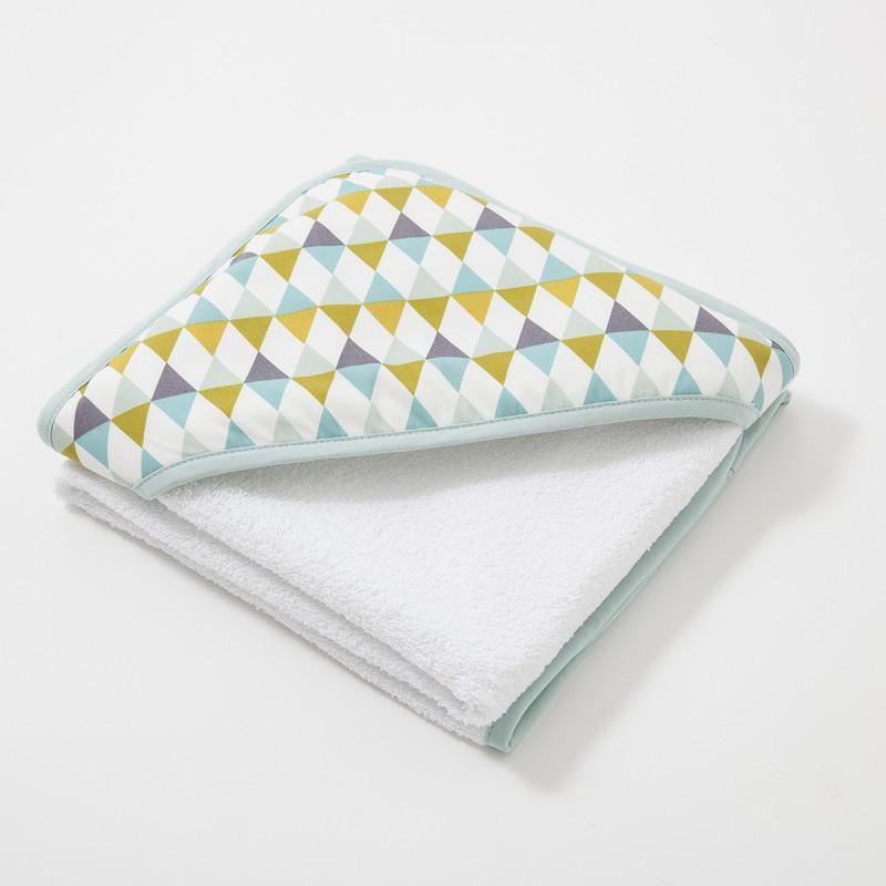 cape de bain b b comedia motifs triangle cocoeko. Black Bedroom Furniture Sets. Home Design Ideas