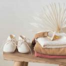 Chausson bébé naissance taille 0-6 mois ECRU