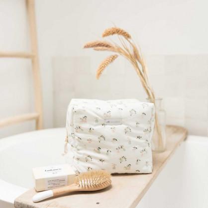 Trousse de toilette bébé en coton bio