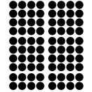 Stickers muraux pois noir 2