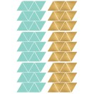 Stickers muraux triangle menthe et or pom 2
