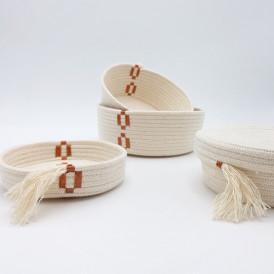 Corbeille en coton naturel CUIVRÉ - Delphine Plisson