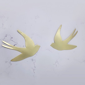 Hirondelle en laiton Delphine Plisson
