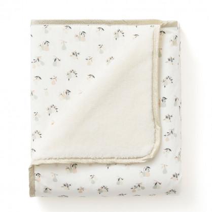 Couverture plaid polaire & coton bio POIRES