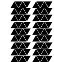 planche stickers enfant triangle noir pom