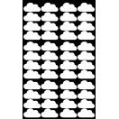 planche stickers enfant nuage blanc