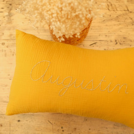 Coussin personnalisable Jaune Moutarde