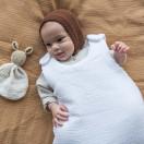 Gigoteuse bébé en gaze de coton BLANC