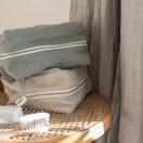 Trousse de toilette bébé LIN VERT SAUGE