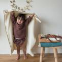 couverture plaid polaire bebe ecru