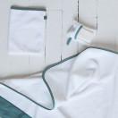 Gant de toilette blanc biais EUCALYPTUS