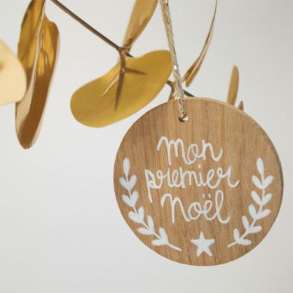 Décoration de Noel en bois Mon premier Noel