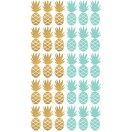 Stickers ananas menthe et or planche