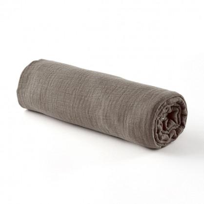 Drap housse gaze de coton PRALIN - 2 tailles