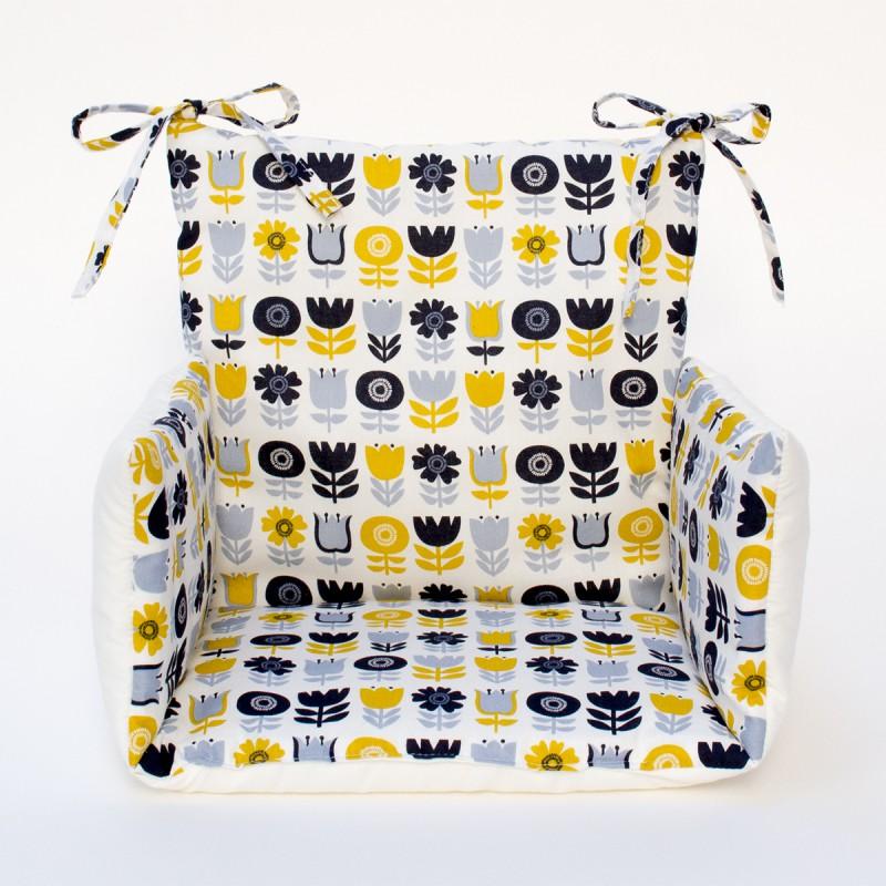 Coussin chaise haute imprim scandinave bloom cocoeko - Chaise haute bebe scandinave ...