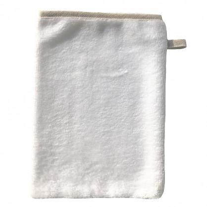 Gant de toilette blanc biais LIN