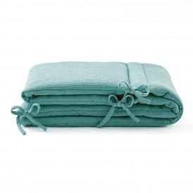 Tour de lit en gaze de coton EUCALYPTUS