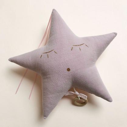 Mobile musical étoile rose pâle