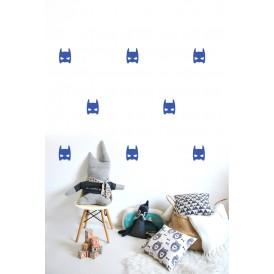 Stickers Masque heros bleu électrique
