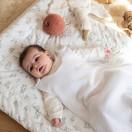 Gigoteuse bébé TOG 1 en gaze de coton BLANC