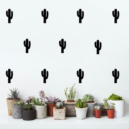 Stickers Cactus noir pom le bonhomme