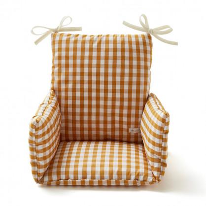 Coussin chaise haute VICHY SAFRAN
