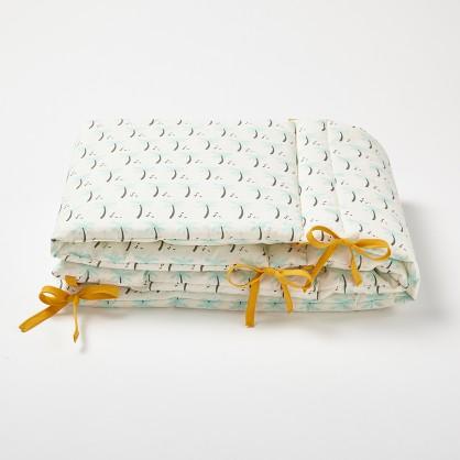 tour de lit b b en coton lin ou chanvre cocoeko. Black Bedroom Furniture Sets. Home Design Ideas