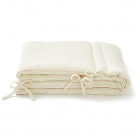 Tour de lit bebe en gaze de coton écru