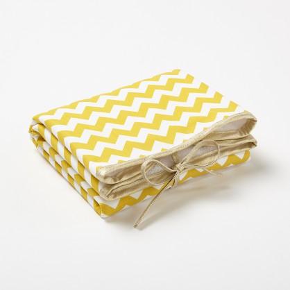 Tapis à langer de voyage motif Chevron jaune moutarde