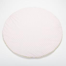 Tapis d'éveil bébé rond motif triangle rose dragée