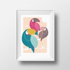 Affiche Toucan A4