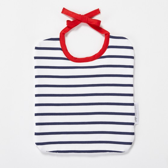 Bavoir bébé marinière Bretagne