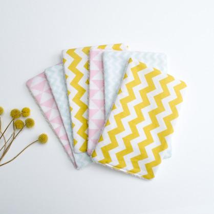 Lingettes lavables bébé graphique pastel