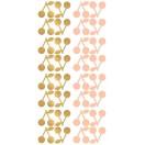 Planche stickers cerises or et rose poudré