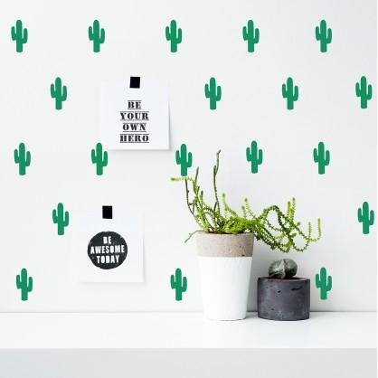 Stickers muraux cactus vert pom le bonhomme