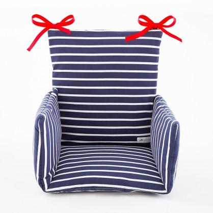 Coussin de chaise haute marinière Breton