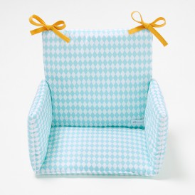 Coussin de chaise haute Losanges bleu