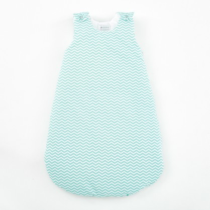 Gigoteuse bébé chevron vert menthe