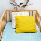 Drap housse lit bébé chevron vert menthe